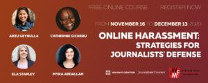 Online Harassment Strategies for Journalists Defense