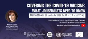 COVID vaccine webinar banner