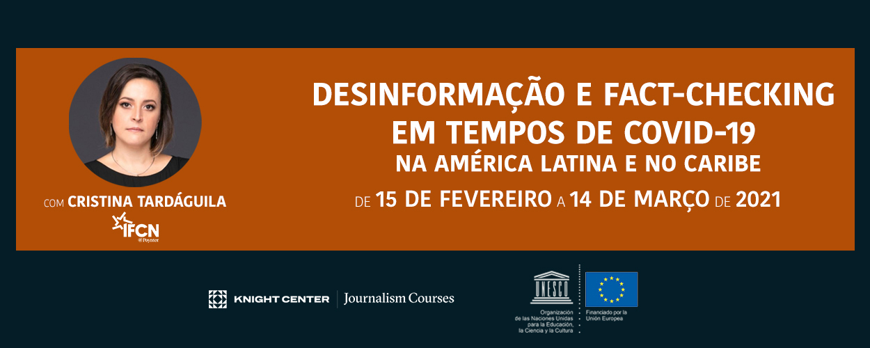 Desinformacao e fact-checking MOOC banner