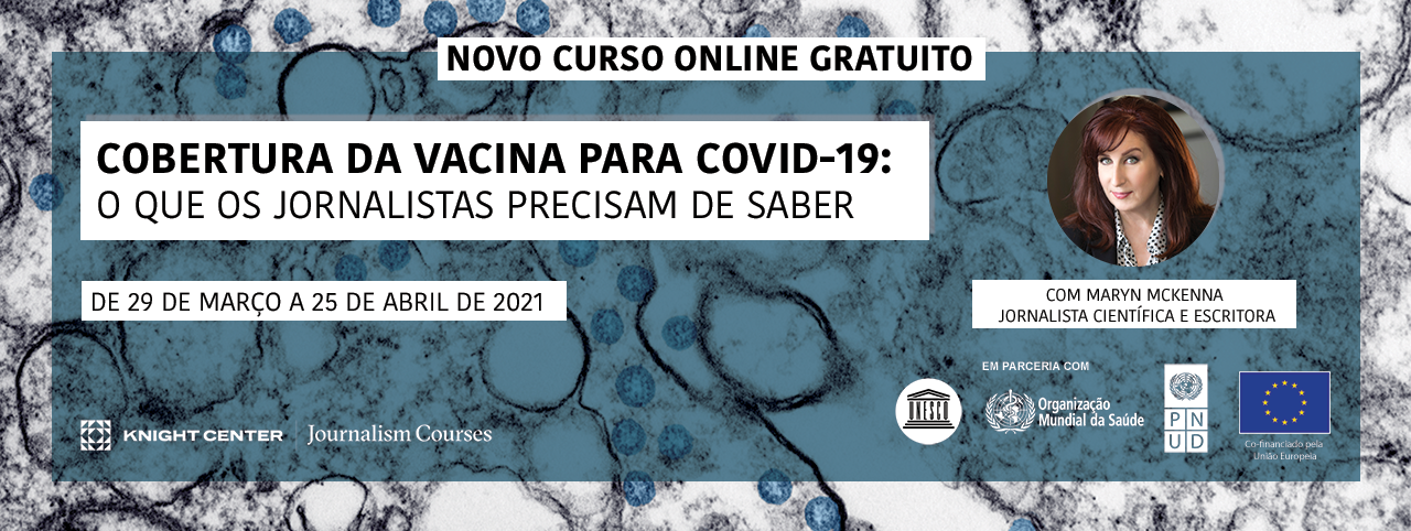 Portuguese Banner for COVID vaccines MOOC