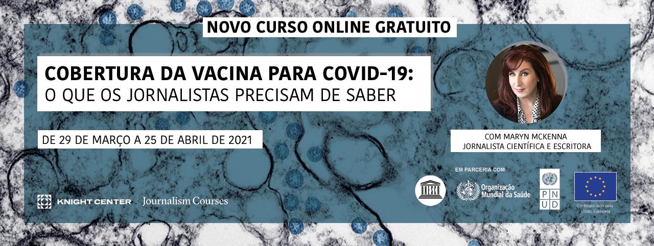 Portuguese Banner for COVID vaccines MOOC