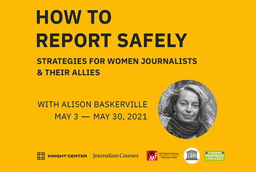 Banner for self-directed reporting safely course